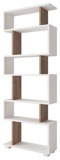 Bates 24''x63''x8'' Modern Minimalist Bookcase, Wenge