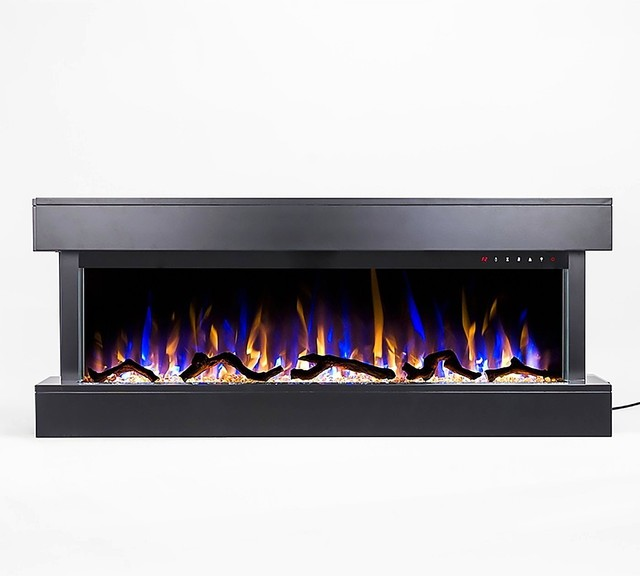 Astonishing Touchstone Chesmont 50 Wall Mounted 3 Sided Electric Fireplace Black Download Free Architecture Designs Rallybritishbridgeorg