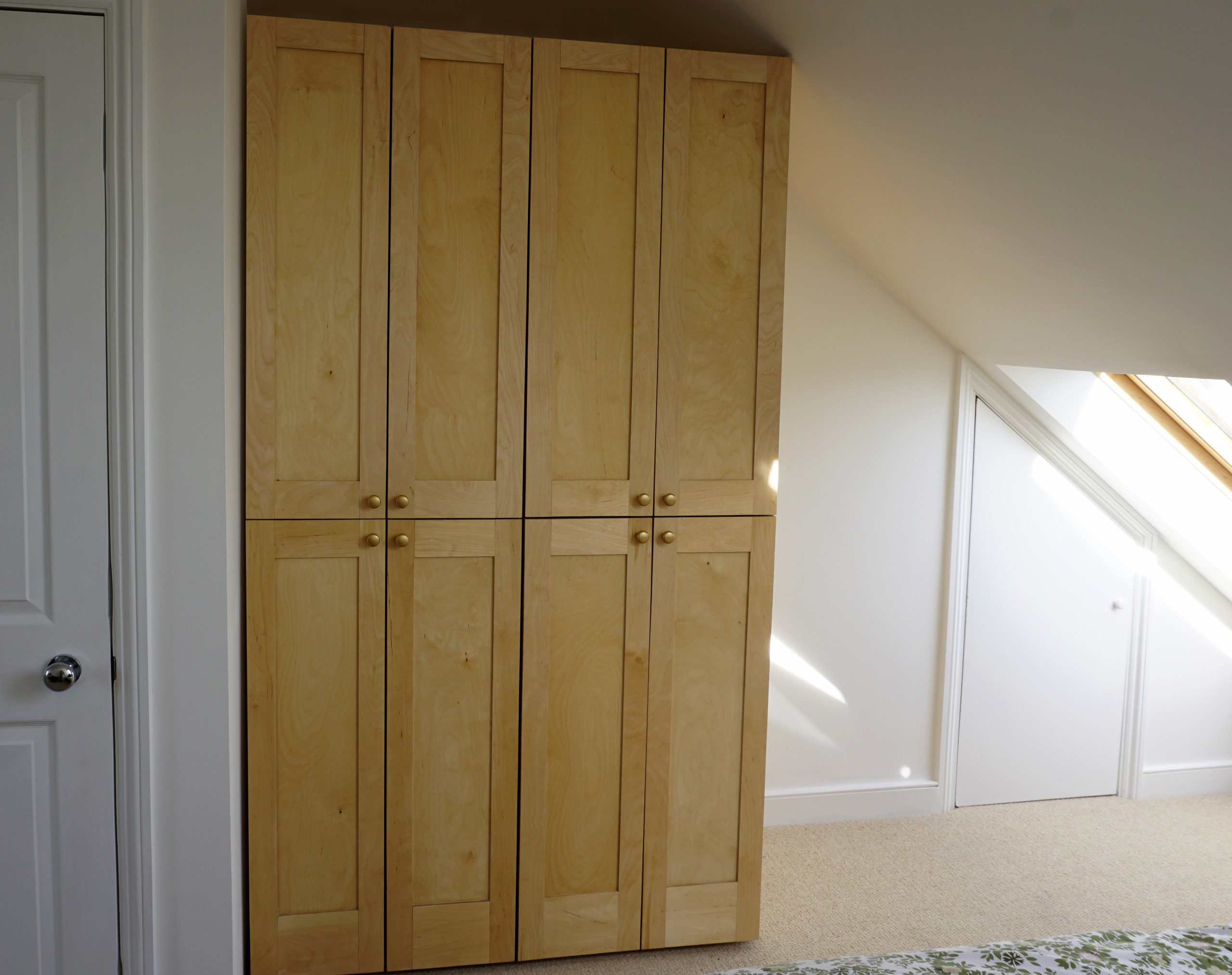 Birch plywood wardrobe