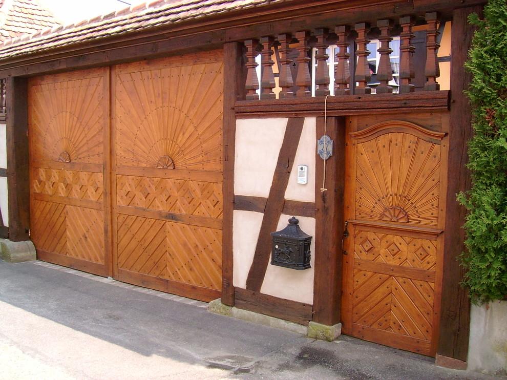 ensemble portail et portillon en bois Chêne de type rural
