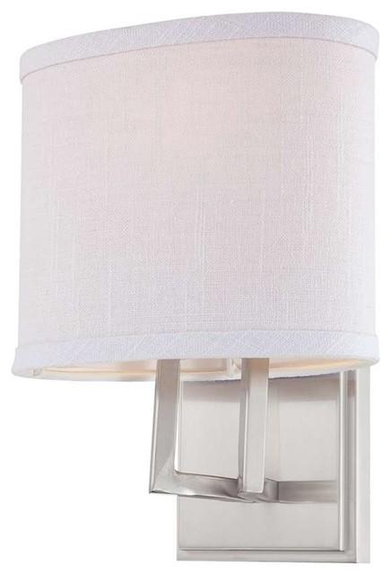 Bathroom Vanity Lights With Fabric Shades nuvo gemini 1-light vanity fixture with fabric shade