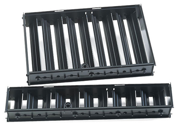"Louvers/dampers, Black, 6""x12""."