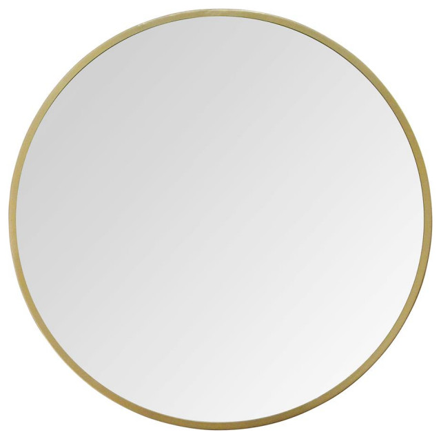 Stratton Home Decor 28 Aubrey Gold Metal Wall Mirror Contemporary Wall Mirrors By Virventures