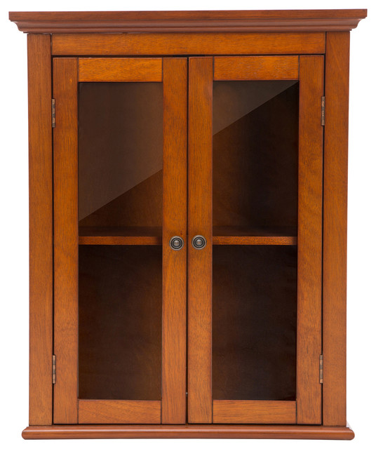 24 1 H Wooden Bathroom Wall Storage Cabinet With Double Doors Traditional Bathroom Cabinets By Glitzhome
