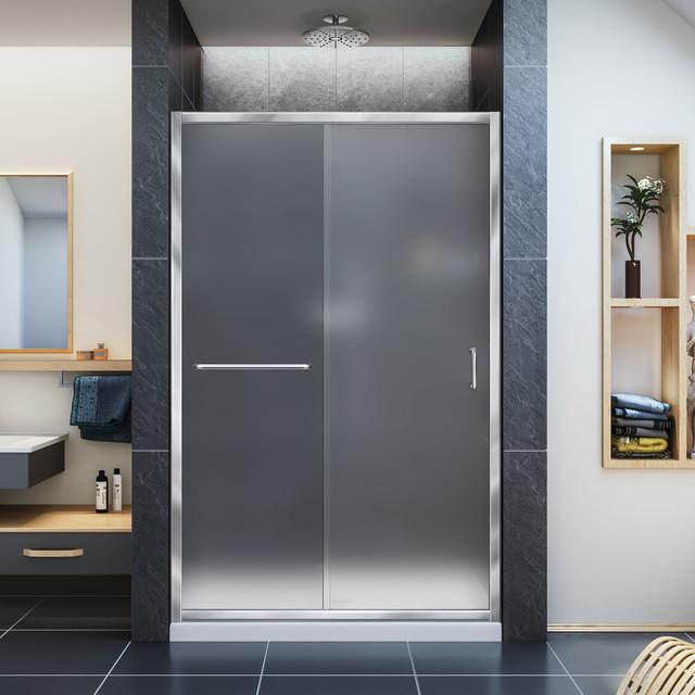 """DreamLine SHDR-0948720-01-FR Infinity-Z 44 - 48"""" Sliding Shower Door, Chrome"""