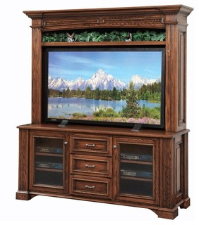 Lincoln Entertainment TV Stand And Hutch   Traditional   Media Cabinets    By Quality Woods Furniture