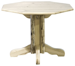 Montana Woodworks Center Pedestal Table - Dining Tables - by Beyond Stores