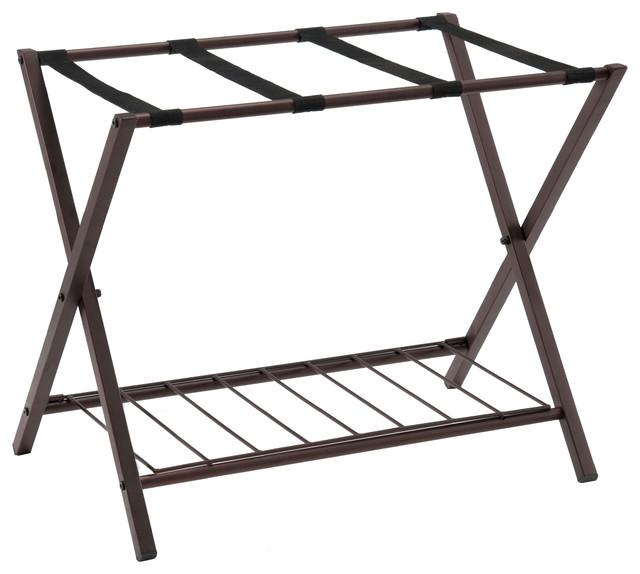 Martin Luggage Rack With Storage Shelf.