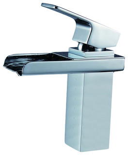 securing the rods new bathroom faucets   Bathroom Waterfall Lavatory Faucet With Lift Rod Pop-up ...