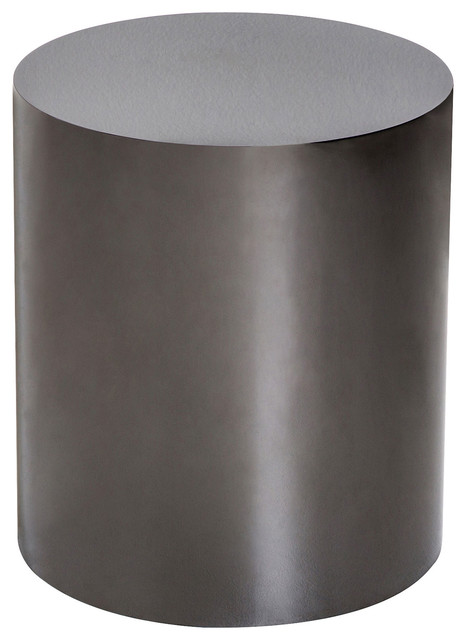 Ajax Modern Clic Black Onyx Cylinder Side Table Tables And End By Kathy Kuo Home