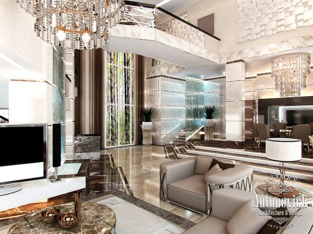 Villa design in palm jumeirah dubai from luxury antonovich design contemporary