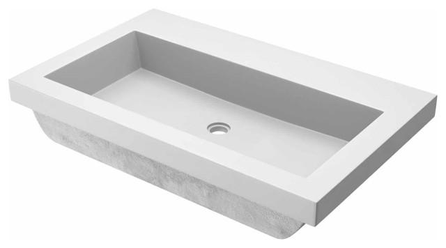 Trough 3019 Concrete Bathroom Sink Contemporary Bathroom Sinks By Native Trails Houzz