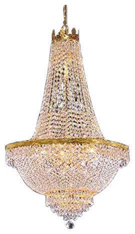 French Empire Crystal Chandelier Lighting Gold