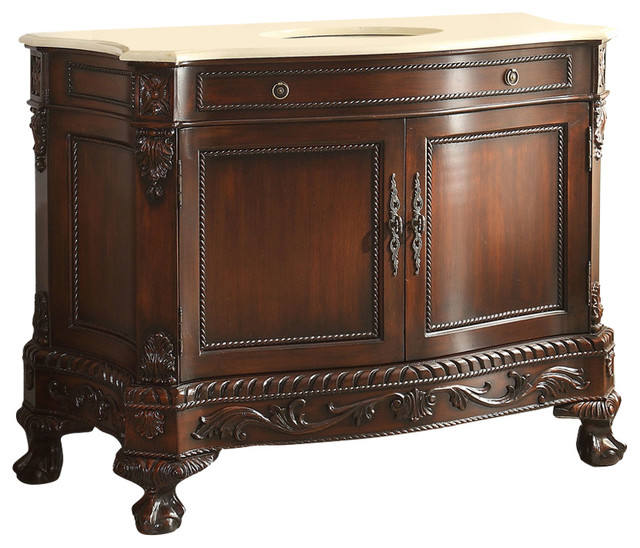 51 Timeless Exclusive Elegant Castillian Bathroom Sink Vanity Cabinet.