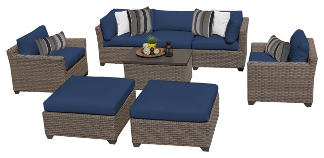 Monterey 8 Piece Outdoor Wicker Patio Furniture Set 08a