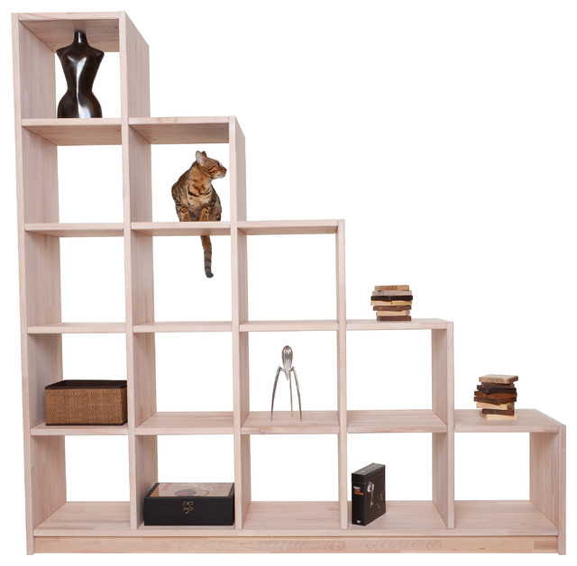 regale f r dachschr gen contemporary bookcases other by pickawood. Black Bedroom Furniture Sets. Home Design Ideas