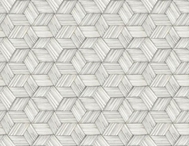 Intertwined Gray Geometric Wallpaper - Contemporary ...