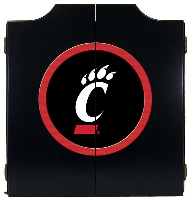 ... Bearcats Dart Board Cabinet, Black contemporary-darts-and-dartboards