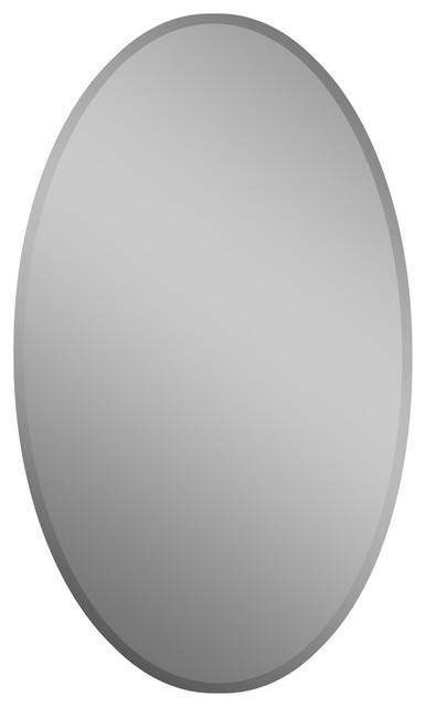 Decor Wonderland Frameless Oval Beveled Mirror contemporary bathroom mirrors. Decor Wonderland Frameless Oval Beveled Mirror   Contemporary