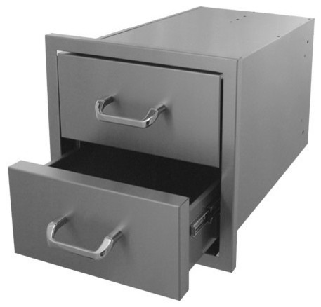 Hasty-Bake Stainless Steel 2 Drawer Unit 18x18 (2dr-18x18).