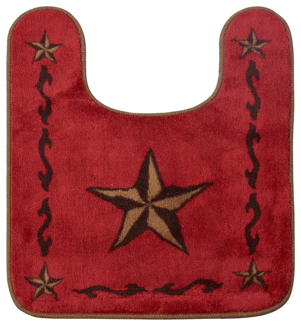 contour red star bath rug - transitional - bath mats -hiend