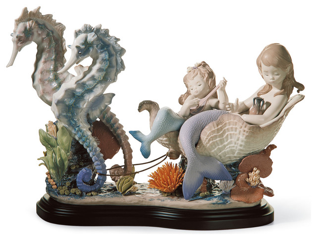 Lladro porcelain lladro underwater journey figurine reviews houzz - Consider including lladro porcelain figurines home decoration ...