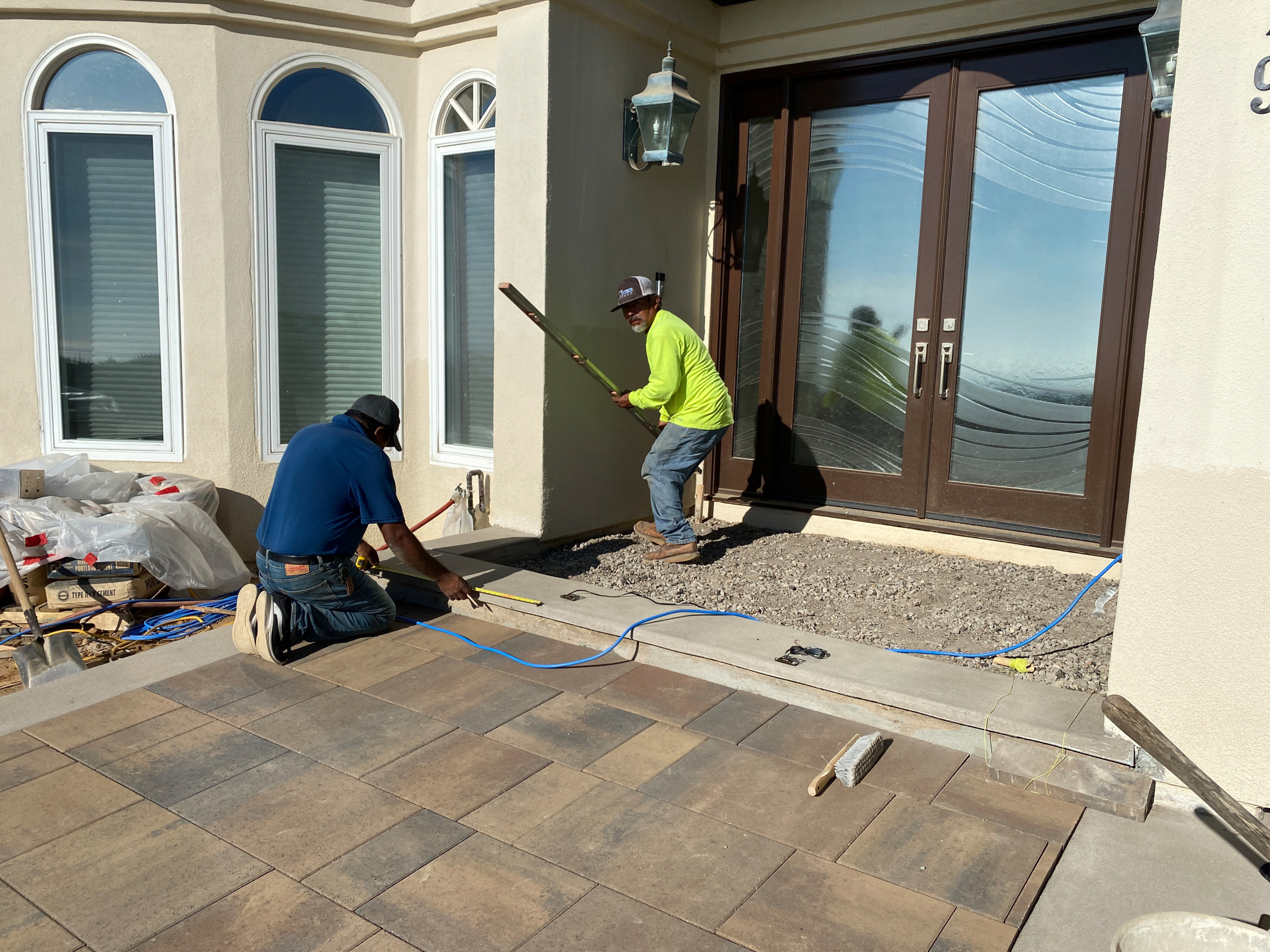 Installing Front Porch Pavers