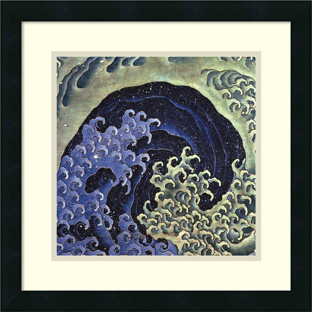feminine wave framed print by katsushika hokusai traditional prints and posters
