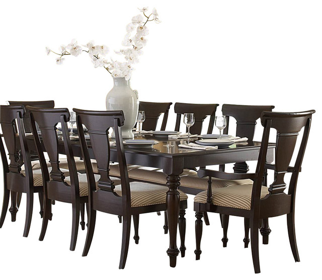 Homelegance Inglewood 10 Piece Rectangular Dining Room Set In Cherry Traditional Sets By Beyond S
