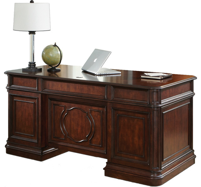 Liberty Furniture Brayton Manor Jr Executive Desk Cognac