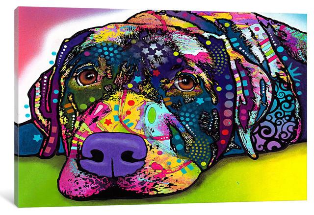 """savvy Labrador"" Wrapped Canvas Art Print, 18x12x0.75."