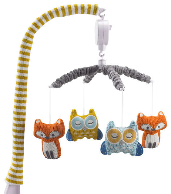 Musical Mobile, Fox/Owl   Contemporary   Baby Mobiles   By Living 63