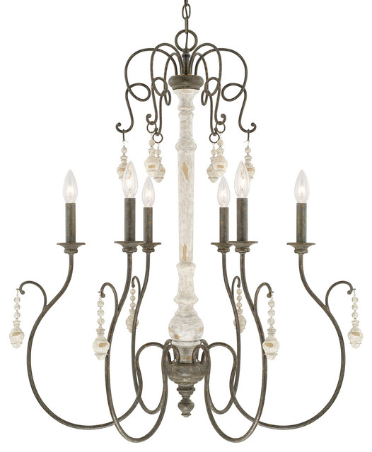 Vineyard 6-Light Chandelier, French Country