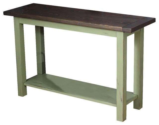 Blissopia Console Table Farmhouse Style Barn Blue