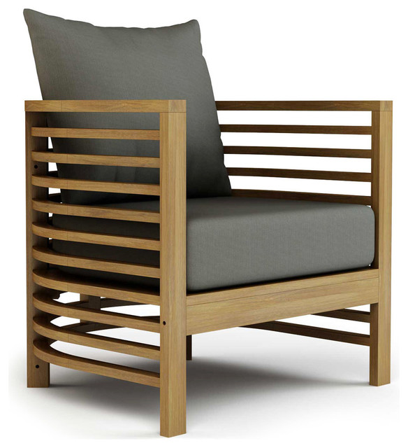 Spirals Teak Collection, Lounge Chair Craftsman Outdoor Lounge Chairs