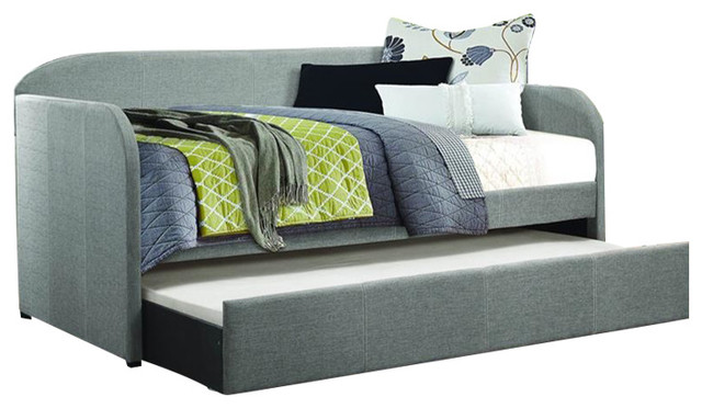 Homelegance Roland Daybed With Trundle In Gray.