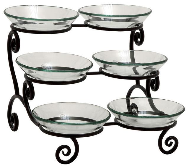 Three Tier Glass Serving Bowls