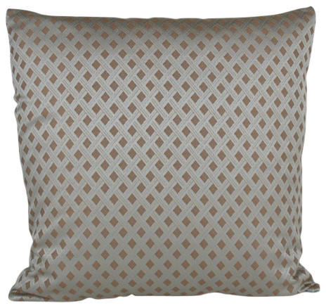 Goose Down Throw Pillows : Turq Diamond Pillow, 22x22 - Contemporary - Decorative Pillows - by Peter Taube Home