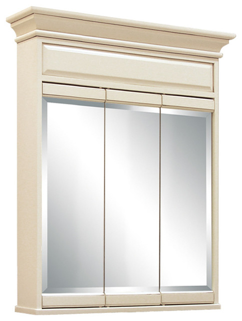 Sanibel 30 Tri View Medicine Cabinet Traditional Cabinets By Sunnywood