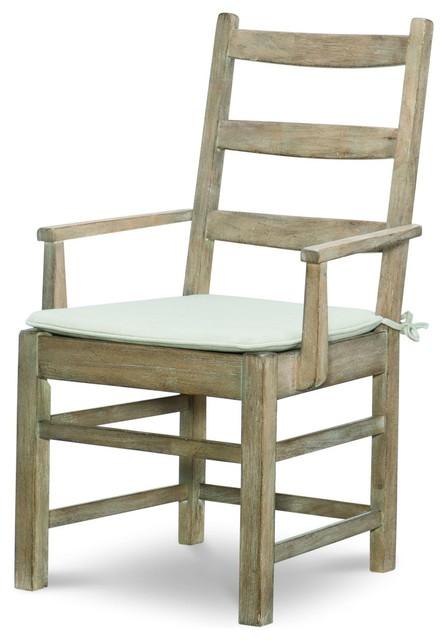 Rachael Ray Home Monteverdi Ladder Back Arm Chair, Set of 2 on