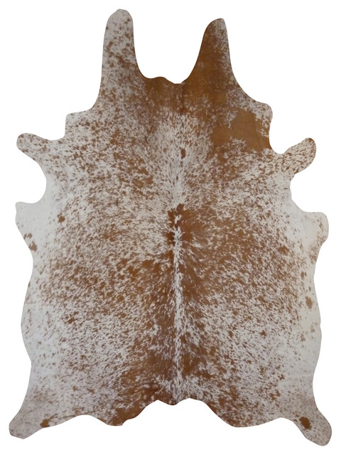Cowhide Rug Salt And Pepper Brown.