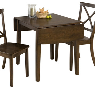 Jofran 342 48 taylor cherry double drop leaf dining table for Traditional dining table uk