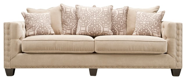 Cindy Crawford Calista Microfiber Sofa View In Your