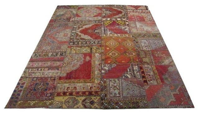 Timothy Oulton Persian Patchwork Rug 9 X 11 Modern Rugs