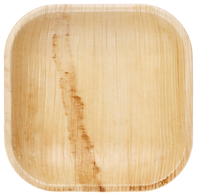 Frondware 5  Palm Leaf Square Disposable Plates ...  sc 1 st  Houzz & Frondware 5