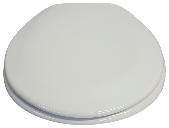 Round Toilet Seat Moorea Adjustable Hinges 17 8 X14 5 Contempora