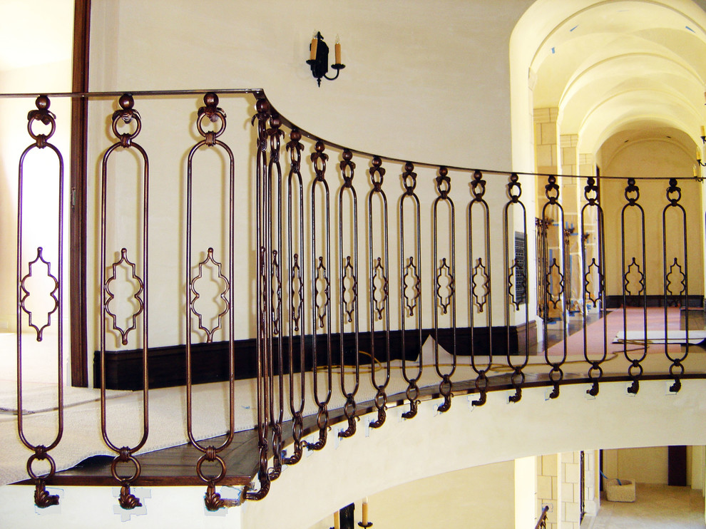 Wrought Iron Rotunda Railing Mediterranean Los Angeles By Vik Iron Designs
