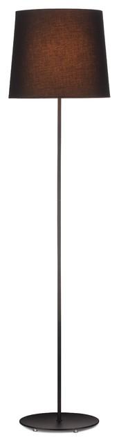 Amalie Modern Black Floor Lamp With Shade.