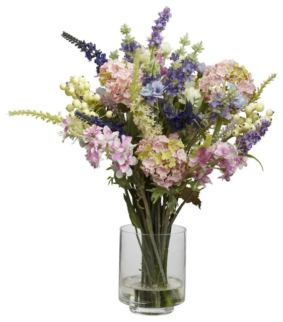artificial flower arrangements walmart lavender hydrangea silk arrangement contemporary for sale melbourne