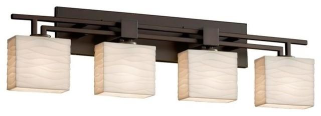 Justice Design Group PNA-8704-55-WAVE-LED4-2800 Porcelina Bathroom Fixture Vanit